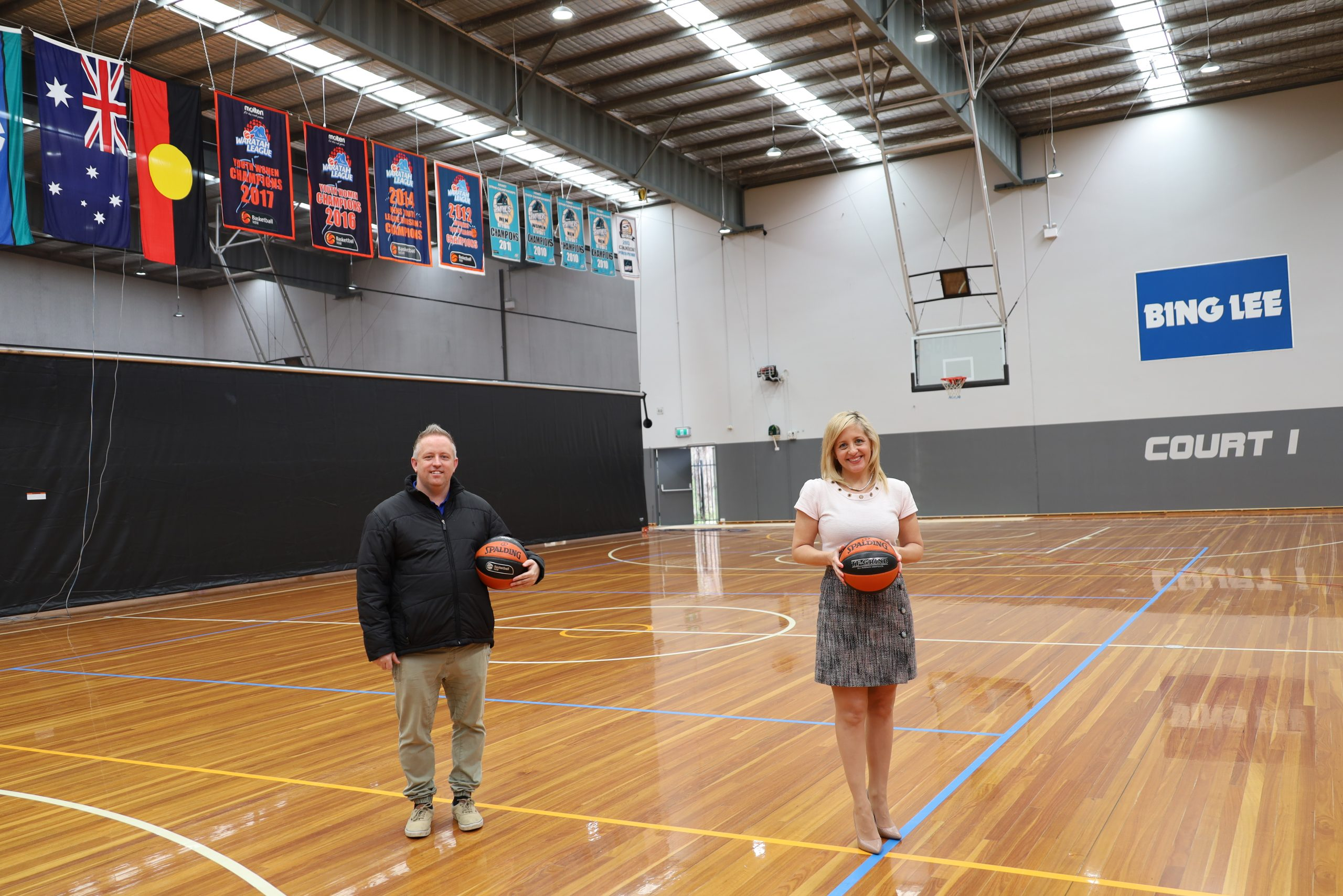 MP Melissa McIntosh with Luke Hepburn General Manager of the Penrith Valley Regional Sports Centre